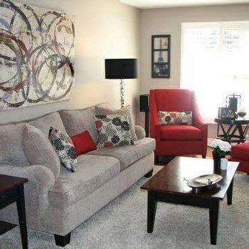 bellisimas salas decoradas en gris  rojo living room