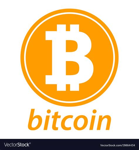 Bitcoin Logo bitcoin icon coin logo crypto currency symbol vector image