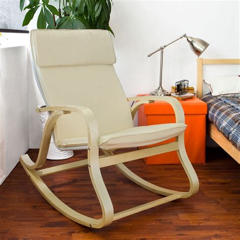rocking chair seat pad uk sobuy 174 relax rocking chair lounge chair recliner with