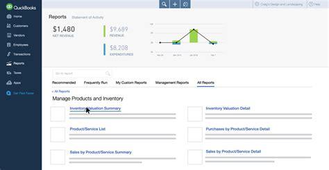 quickbooks web tutorial inventory
