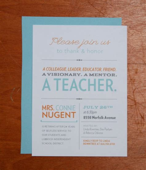 15 best teacher retirement party invitation wording images