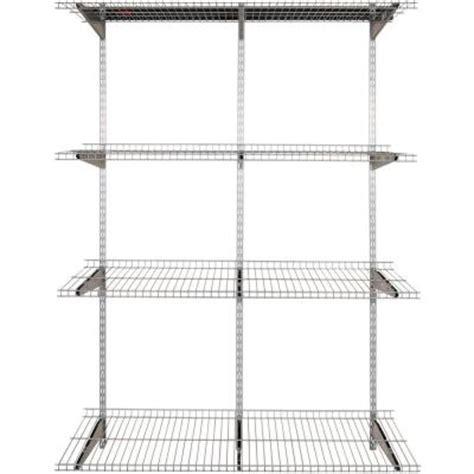 rubbermaid fasttrack 4 shelf 16 in x 48 in silver
