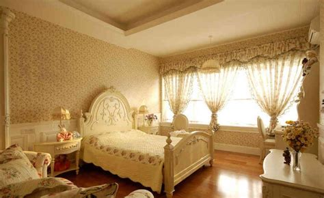 Romantic neo classical style bedroom design