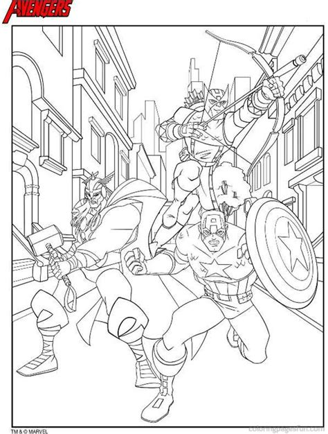 avengers printable coloring page simple coloring pages