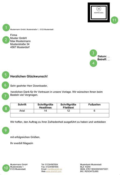 Datum Briefvorlage Gesch 228 Ftsbrief Vorlage Gratis Herunterladen Everbill Magazin