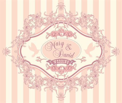 free vintage wedding invitation vector free vector wedding invitation cards with floral elements