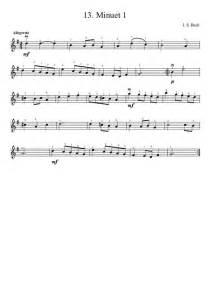 Suzuki Book 1 Minuet 1 Suzuki Violin Method V 1 13 Bach Minuet 1 Musescore