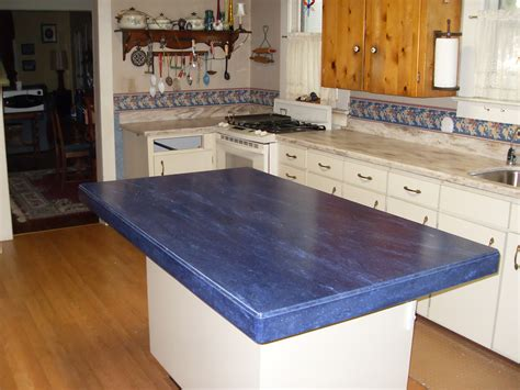Blue Backsplash Kitchen by Corian By Dupont
