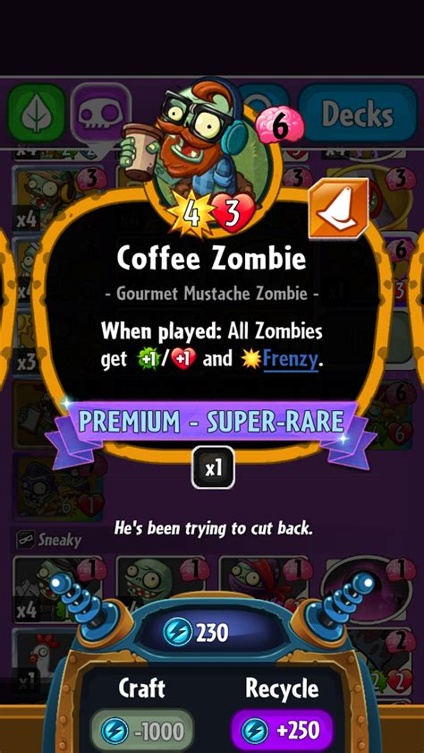 Pvz Heroes Card Template by Coffee Plants Vs Zombies Wiki Fandom Powered