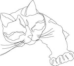 One Of Two Ways Outline In Color by Kitten Coloring Pages 2 Coloring Ville