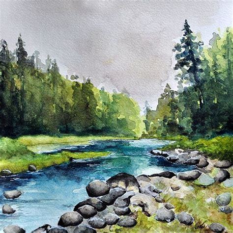 watercolor river tutorial best 10 watercolor landscape ideas on pinterest