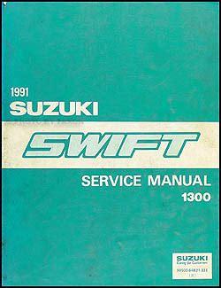 old car repair manuals 1991 suzuki swift parking system 1991 suzuki swift 1300 repair shop manual original