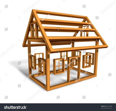 house music structure home construction wood frame structure house stock illustration 95763580 shutterstock