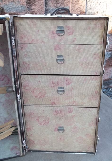 Antique Wardrobe Steamer Trunk Value by Shabby Pink Chic Antique Wardrobe Clothing Steamer Trunk Chest