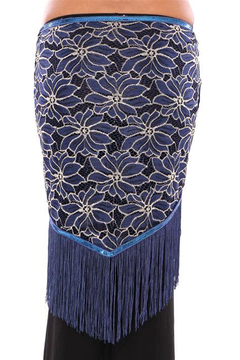2 Tone Shawl Orange Kombinasi two tone lace shawl hip scarf with fringe in blue