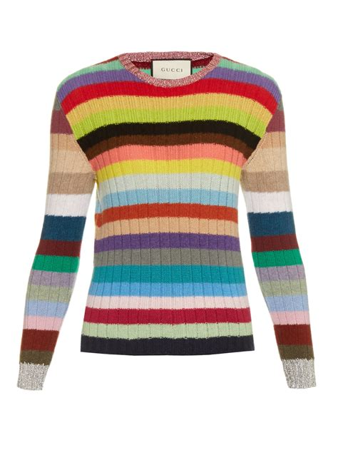 Rainbow Sweater gucci rainbow stripes and wool blend cardigan lyst