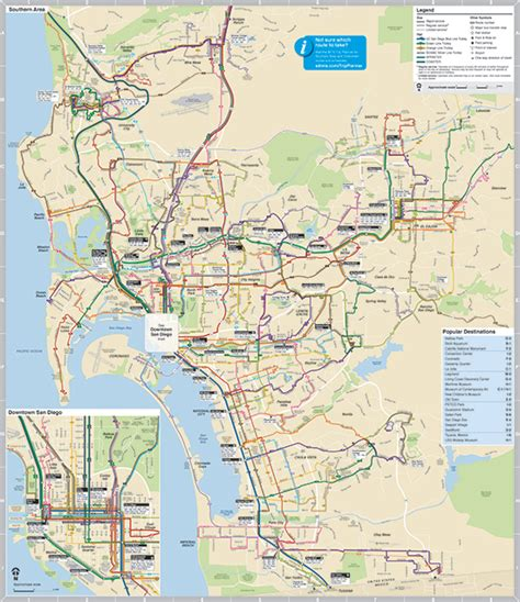 san diego trolley map maps and routes san diego metropolitan transit system