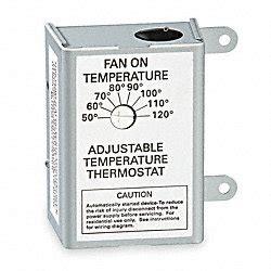 120v thermostat fan switch air vent attic fan t stat line volt 50 120 deg f attic