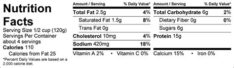Nutritional Information Cottage Cheese by Cottage Cheese Low Braum S