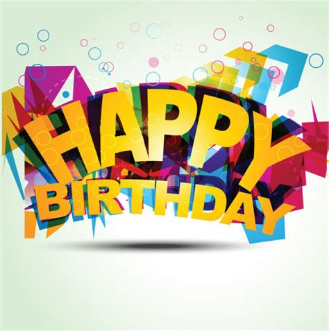 Happy Birthday Design Elements | happy birthday design elements free vector free vector in