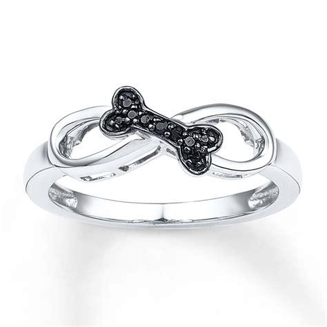 sterlingjewelers bone infinity ring 1 20 ct tw black