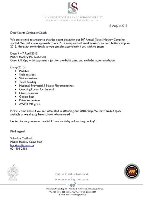 Hockey Release Letter High Schools Hockey C Maties Hockey Club