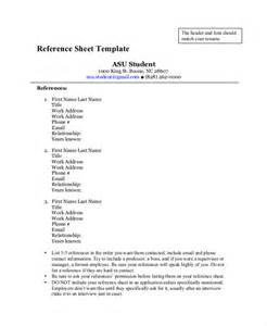 sle reference sheet for resume reference page template 28 images reference sle for