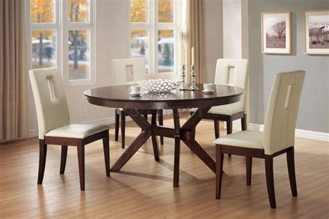 contemporary kitchen dinette sets distressed walnut finish contemporary 5pc dinette set