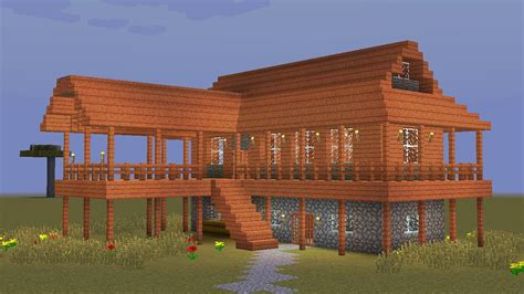 how to house a minecraft how to build a wooden savanna house