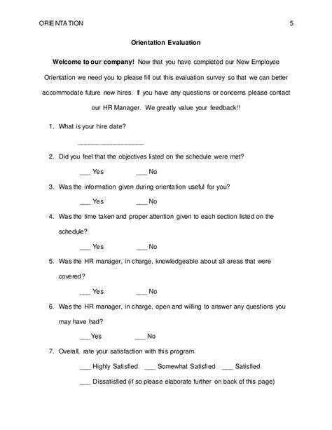 induction feedback orientation new employee orientation