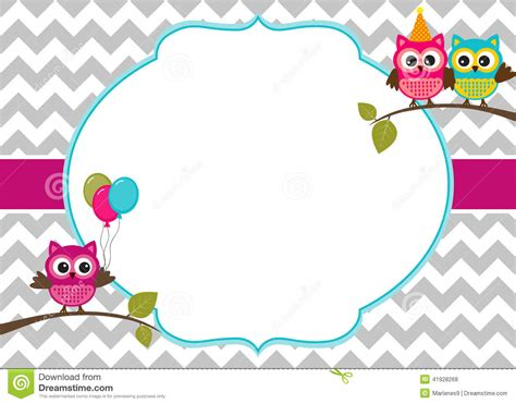 small invitation card template free 40th birthday ideas owl birthday invitation template free
