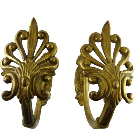 antique drapery tiebacks large antique victorian gilt brass curtain tiebacks from
