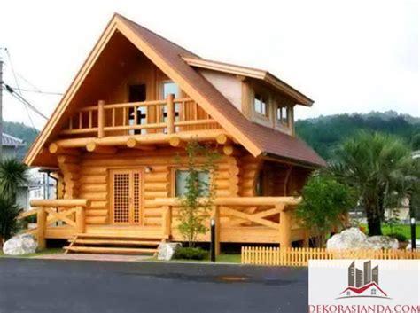 model rumah kayu sederhana dan cantik renovasi rumah net
