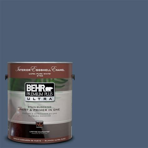 behr premium plus ultra 1 gal ul230 2 channel interior eggshell enamel paint 275301