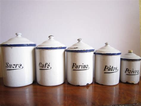food canisters kitchen vintage french canister set by le box shop traditional