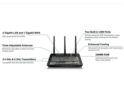 Router Wireless Asus Rt N66u buy asus rt n66u wireless cable fibre router free delivery currys