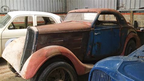 find peugeot french barn find 1936 peugeot 301d coupe