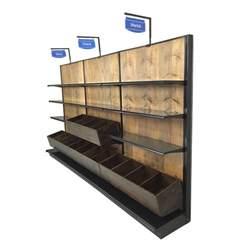 Retail Store Racks Liquor Store Racks For Wine Wood Gondola Wall Shelving
