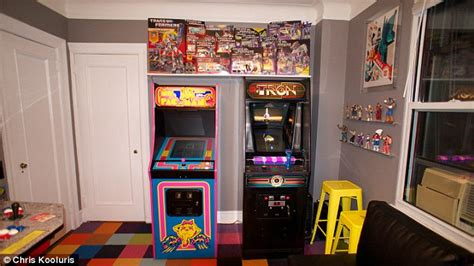 arcade bedroom meet the game obsessed man who spent over 32 000 turning