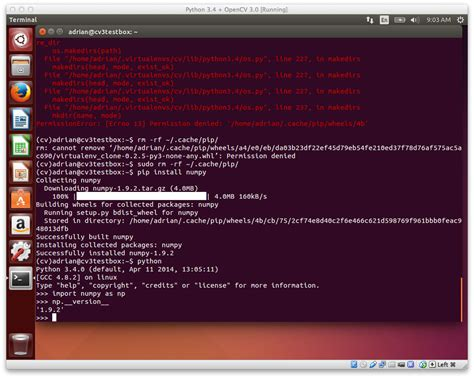 how to install pip ubuntu install opencv 3 0 and python 3 on ubuntu pyimagesearch