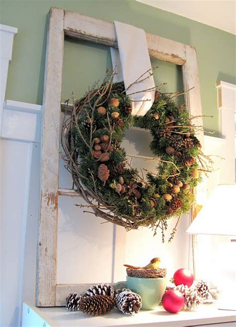 Window Wreaths Decorations by 34 Cool Rustic Decorations And Wreaths Digsdigs
