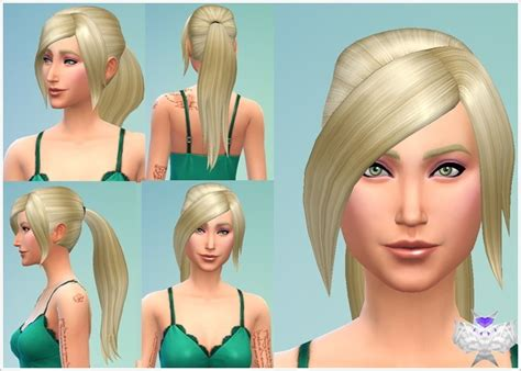 hairstyles download sims 4 sims 4 hairs david sims long ponytail hairstyle