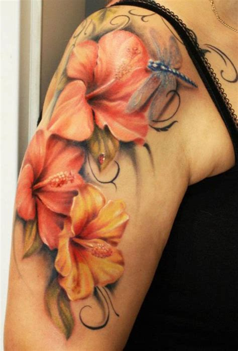 hawaiian flower tattoos large preview easy on the eye 36 beautiful hawaiian flower tattoos