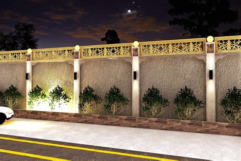 boundary wall design boundary wall design by israr ahmed at coroflot com