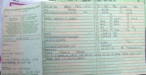 Kba Anfrage Brief Verloren Fahrzeugbrief