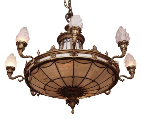 Antique Chandeliers Nyc Ornate Bronze Chandelier From Landmark Nyc Building Olde Things