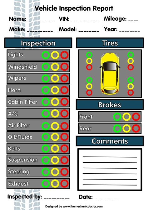 vehicle inspection forms modern  checklists  todays auto mechanic