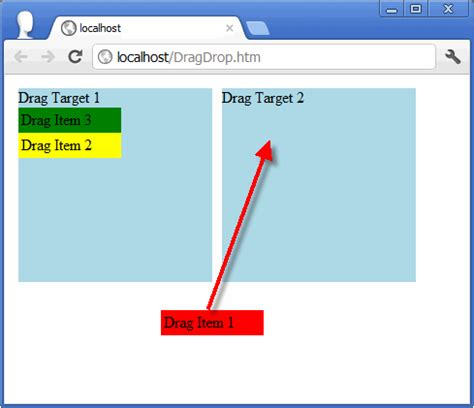 javascript provider pattern javascript exle of drag and drop to a target codeproject