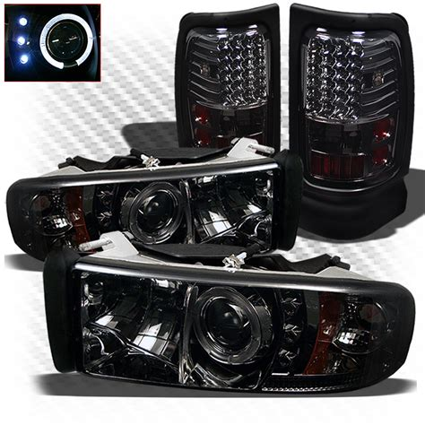 2001 dodge ram 1500 tail lights for 94 01 ram 1500 94 02 2 3500 smoked halo pro