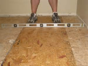 level an uneven crowning subfloor by planing sanding